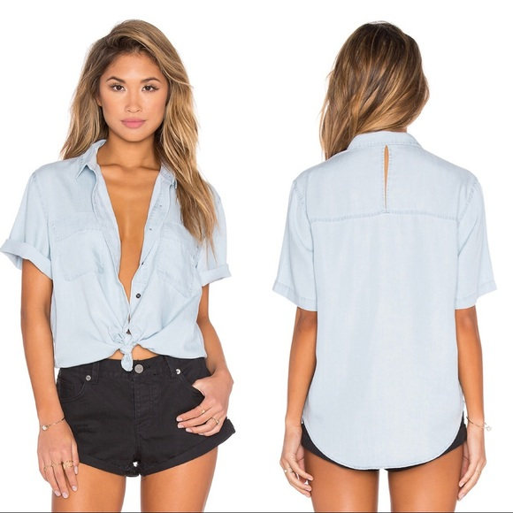 Obey Tops - OBEY REVOLVE St. Gilles Button Up in Chambray